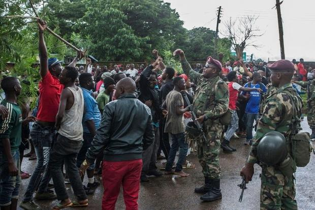 Protests have broken out in the Malawian capital Lilongwe following accusations that bribes were off...