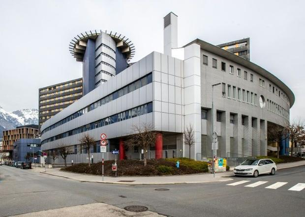 A couple has been quarantined in the Innsbruck Hospital  pictured on February 25