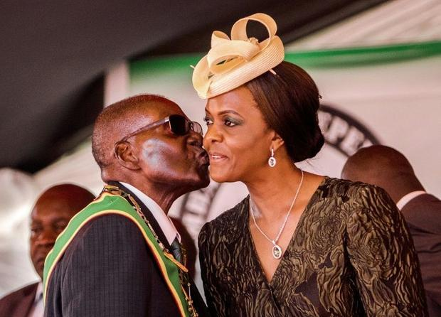 Mugabe  seen here with his wife and first lady Grace Mugabe  went on to rule for nearly four decades