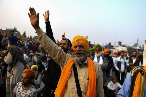 Sandeep Singh (C)  65  a farmer from the northern Indian state of Punjab  has described the new laws...