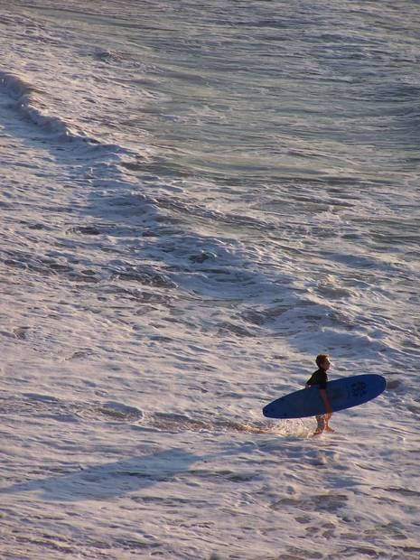 Early morning  Surfer at Bondi Beach