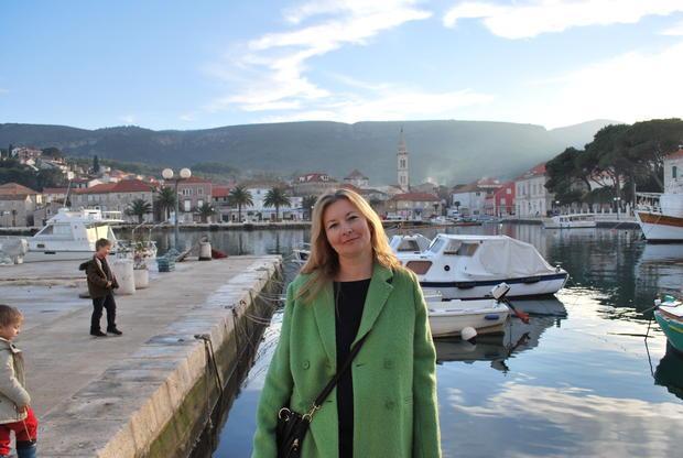 Ivana Krstulovic Caric  President of the Hvar Wine Association  in the Hvar wine town of Jelsa.