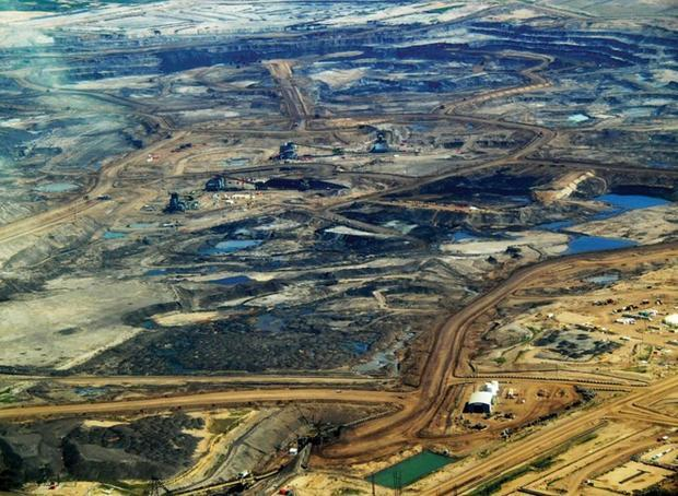 Athabasca oilsands in Alberta  Canada.