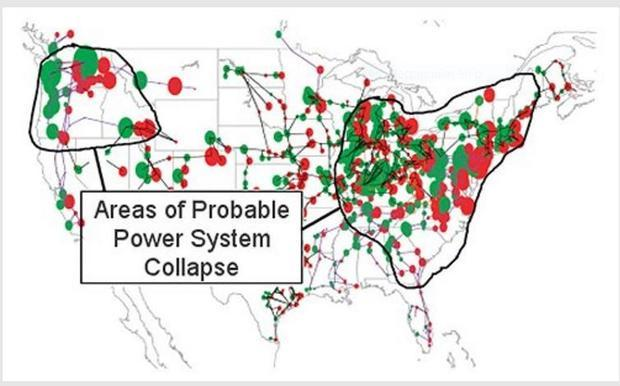 What if we were to be hit with a massive  super solar flare? A US map of vulnerable transformers wit...
