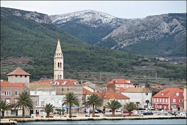 The snow may be miniscule by international standards  but snow on Hvar makes national news  and the ...